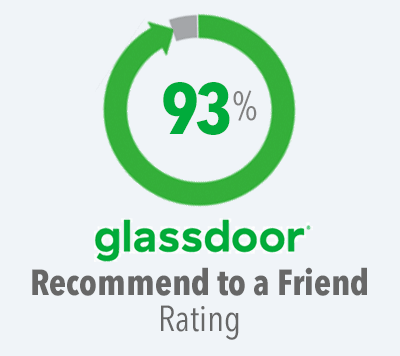 93% Glassdoor Recommend to a Friend